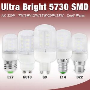 Ultra Bright 5730 LED Corn Bulb Lamp Light Milky White 220V E27 E14 B22 G9 Base