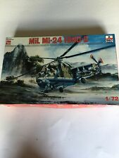 ESCI ERTL MiL MI-24 Hind-D 1/72 Scale Military Helicopter Model kit.