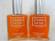 MUSK FOR MEN by JOVAN  AFTERSHAVE/COLOGNE  2 fl oz EACH x 2 NEW NOT BOXED