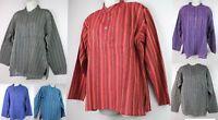 Summer Light Handmade Grandad Cotton Stripe Shirt Kurta Casual Festival Tops CS3