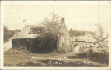 Cape Rosier ME Hiram Blanc's Camps c1940 Real Photo Postcard