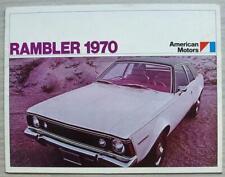 AMC RAMBLER USA Car Sales Brochure 1970 #AMX-7003 EXP