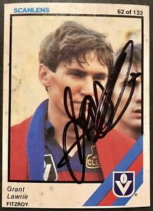 1984 SCANLENS CARD PERSONALLY SIGNED BY GRANT LAWRIE FITZROY