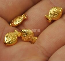 30pcs Antique Gold Jewelry fish  Spacer Beads Charms   9mm