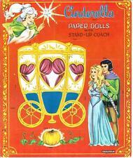 VINTAGE UNCUT 1960S CINDERELLA PAPER DOLLS HD LASER REPRODUCTION~LO PR~HI QUAL