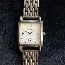 Vintage Fossil Square Women's Wristwatch Stainless Steel VT-2503