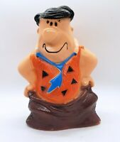 Vintage 1973 Fred Flintstone Plastic Bank by HomeCraft Hanna Barbera