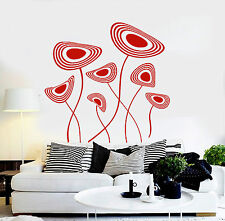 Vinyl Wall Decal Abstract Flowers House Interior Room Art Stickers (ig4199)