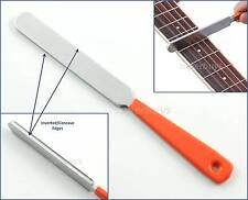 Guitar Double Dual Edge Fret Crowning Luthier File Filing Concave Cutter Tool