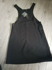 New Look BLACK Pinafore style SOFT  dress NEW BNWT size UK 8 WOMENS