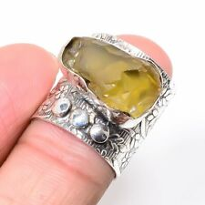 Citrine Gemstone Christmas Wear Wholesale Ethnic Jewelry Ring Size 6.5 KR-6221