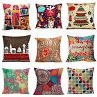 "18"" European Style Printed Pillow Case Cotton linen Cushion Cover Decor Square"