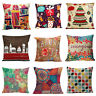 "18"" European Style Printed Pillow Case Cotton linen Cushion Cover Decor Square"