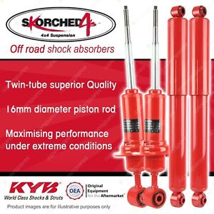 F + R KYB SKORCHED 4'S HD 4WD Shock Absorbers for NISSAN Navara D40 RWD 4WD
