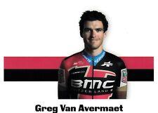 CYCLISME carte cycliste GREG VAN AVERMAET  équipe BMC (3)