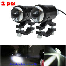 2PCS CREE LED U1 Lens Motorcycle Headlight Driving Fog Light Spot Lamp & Switch