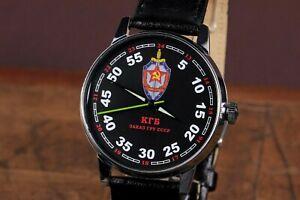 Wrist watches Raketa KGB, Soviet Military watch, Mechanical Russian watches