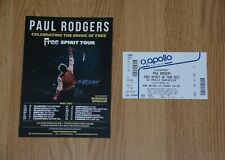 PAUL RODGERS ~ Free Spirit Tour 2017 ~ A5 Tour Flyer & Ticket Stub