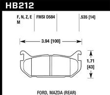 Disc Brake Pad Set-LX, Rear Disc Rear Hawk Perf HB212E.535