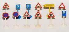 12 Siku V-Serie Verkehrsschilder aus der frühen Zeit