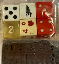 Vintage Lucite or Bakelite Casino Gaming Dice