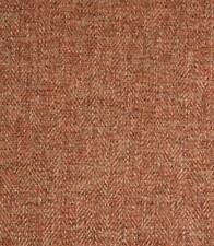 Next Soft Herringbone Upholstery Fabric Material in Russet per metre from bolt