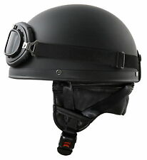 Gr/ö/ße 53cm bis 64 cm TKYZYY Retro Harley Halbhelme Motorradhelm Halbschale Oldtimer Jet-Helm Motorrad-HelmRoller-Helm Scooter-Helm Bobber Mofa-Helm Cruiser Pilot Biker Helmet