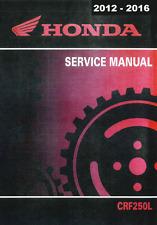 DIGITAL 2012 2013 2014 2015 2016 Honda CRF250L CRF 250L service manual