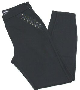 BEBE  Lace Up Black Leggings (BB1200) Size 12 - NEW with Tags - Free Shipping
