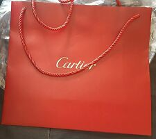 Brand New Authentic Large CARTIER Paper Shopping Gift Bag 12.5x11x5