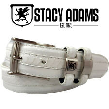 NEW STACY ADAMS MEN'S GENUINE Crocodile and Lizard Print Leather Belt 127
