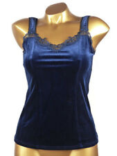Arianne - SIZE S - Top Camisole Corsage Velvet 5015 Veronica, Color: Sapphire
