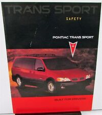 1998 Pontiac Canadian Dealer Sales Brochure Trans Sport English Text