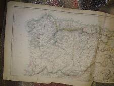 Spain +Portugal NW- Galicia,Leon+Catalonia,NavarreDispach Atlas1863Framed 40more