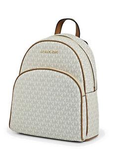 Michael Kors MK Abbey Vanilla Medium Backpack