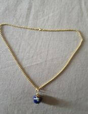 14k gold rope necklace globe charm