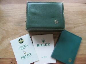 ANTIQUE ADVERTISING  ROLEX WATCH BOX CASE AND PAPER 1974