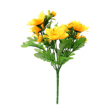 Sunflower Bright Yellow Artificial Flower Bush 14 Heads | Use Indoor And Outdoor
