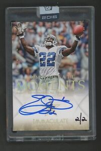 2014 Immaculate Moments Emmitt Smith HOF Signed AUTO 2/2 Dallas Cowboys