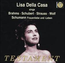 Lisa Della Casa sings Brahms Schubert,Strauss Wolf Schumann CD, Mar-2004 T(658)