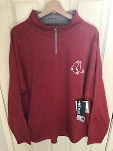 Majestic Boston Red Sox 1/4 Zip Pullover Sweatshirt XXL