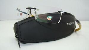 TAG HEUER TH0341 011 Black Carbon Yel Titanium Rimless Glasses Eyeglasses Frames