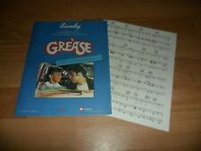 GREASE - SANDY  (VERY RARE SHEET MUSIC)  JOHN TRAVOLTA