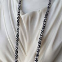 Mens Chain Wheat Link Necklaces Albanian 4mm 28GR 20 Inch 925 Sterling Silver