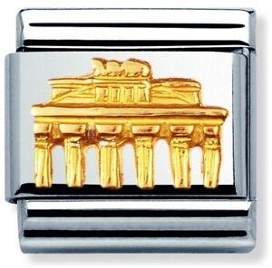 Nomination Classic 18ct Gold Brandenburg gate Charm 030126/02 rrp £39