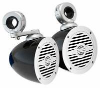 """(2) Rockville MS40W 4"""" 200 Watt Marine Wakeboard Tower Boat Speakers"""