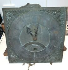 ANTIQUE LONG CASED CLOCK MOVEMENT C1750, ORIGINAL AND UNTOUCHED. 11 INCH DIAL