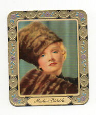 Marlene Dietrich 1934 Garbaty Film Star Series 2 Embossed Cigarette Card #58