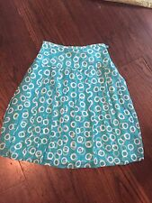 Ladies Esperanto Green Blue Silk Circle Skirt Size Small