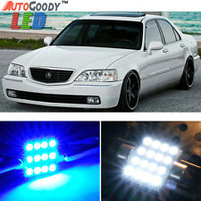 9 x Premium Blue LED Lights Interior Package Deal for Acura RL 1999-2004 + Tool